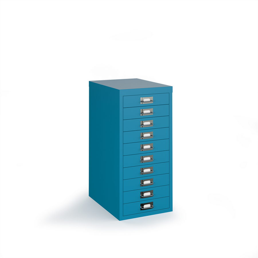 Picture of Bisley multi drawers with 10 drawers - blue