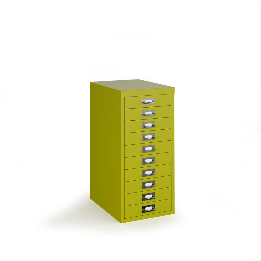 Picture of Bisley multi drawers with 10 drawers - green