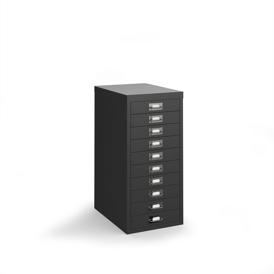 Picture of Bisley multi drawers with 10 drawers - black