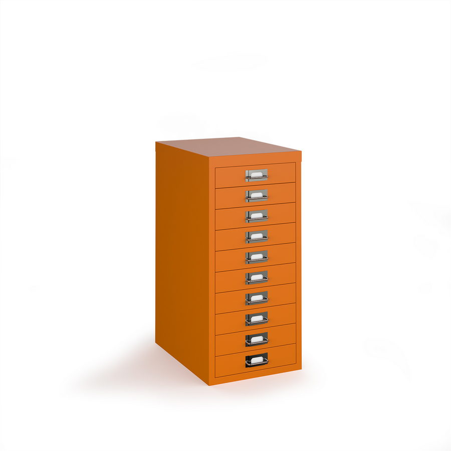 Picture of Bisley multi drawers with 10 drawers - orange