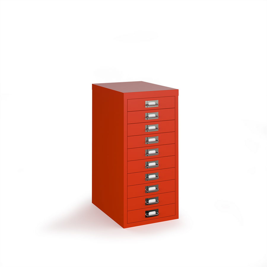 Picture of Bisley multi drawers with 10 drawers - red