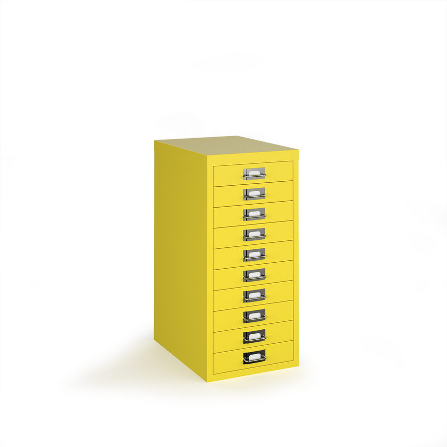 Picture of Bisley multi drawers with 10 drawers - yellow