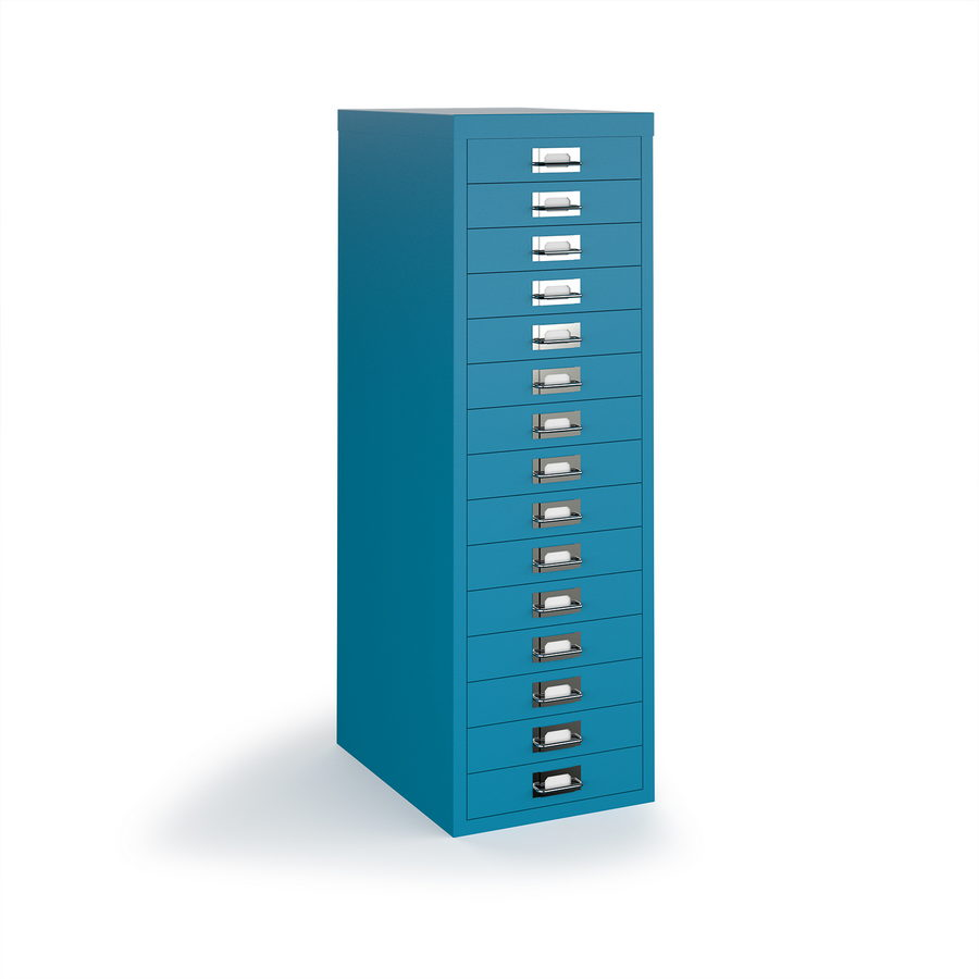 Picture of Bisley multi drawers with 15 drawers - blue