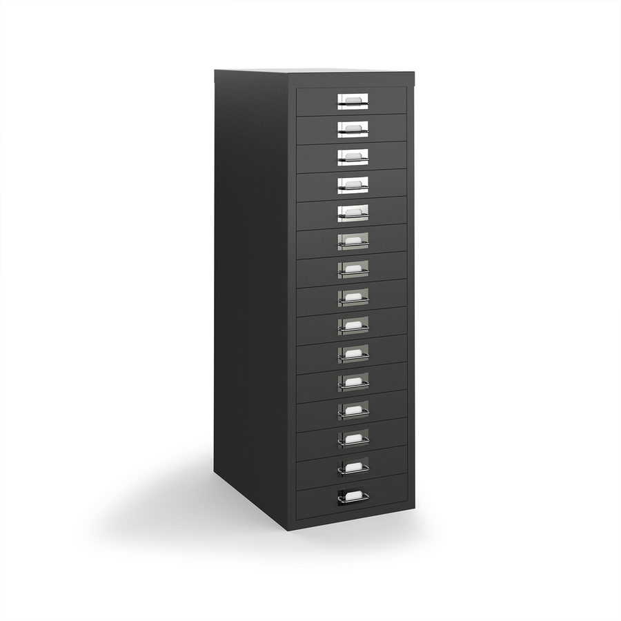 Picture of Bisley multi drawers with 15 drawers - black