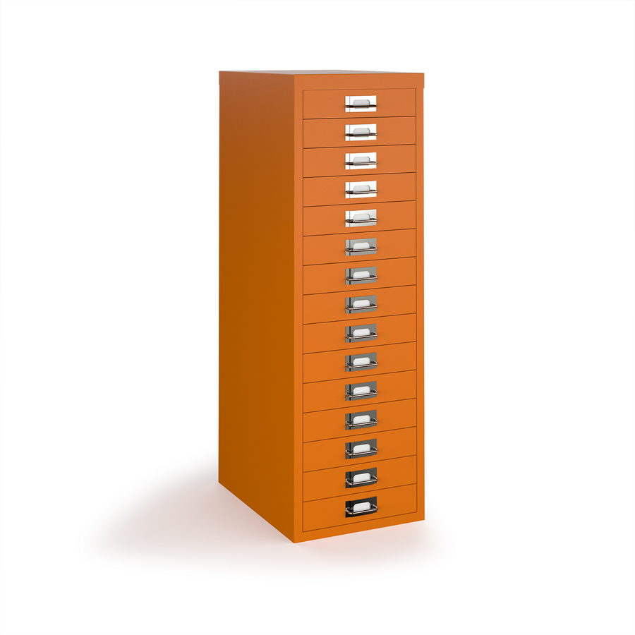 Picture of Bisley multi drawers with 15 drawers - orange