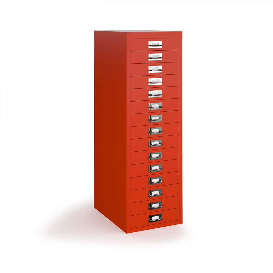 Picture of Bisley multi drawers with 15 drawers - red