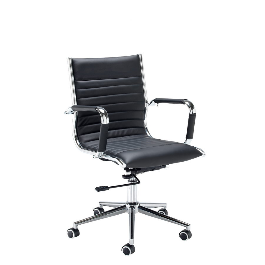 Picture of Bari medium back executive chair - black faux leather