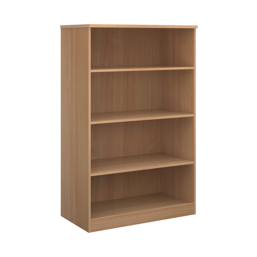 Picture of Deluxe bookcase 1600mm high with 3 shelves - beech