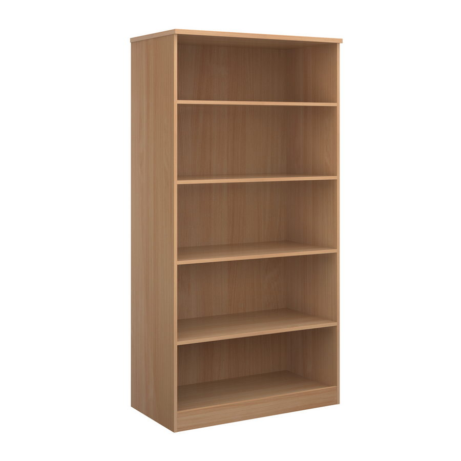 Picture of Deluxe bookcase 2000mm high with 4 shelves - beech