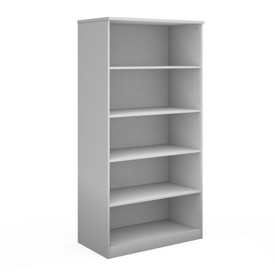 Picture of Deluxe bookcase 2000mm high with 4 shelves - white