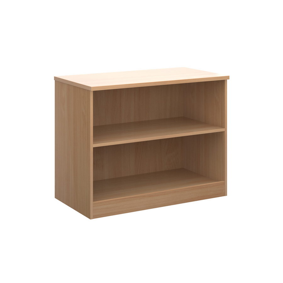 Picture of Deluxe bookcase 800mm high with 1 shelf - beech