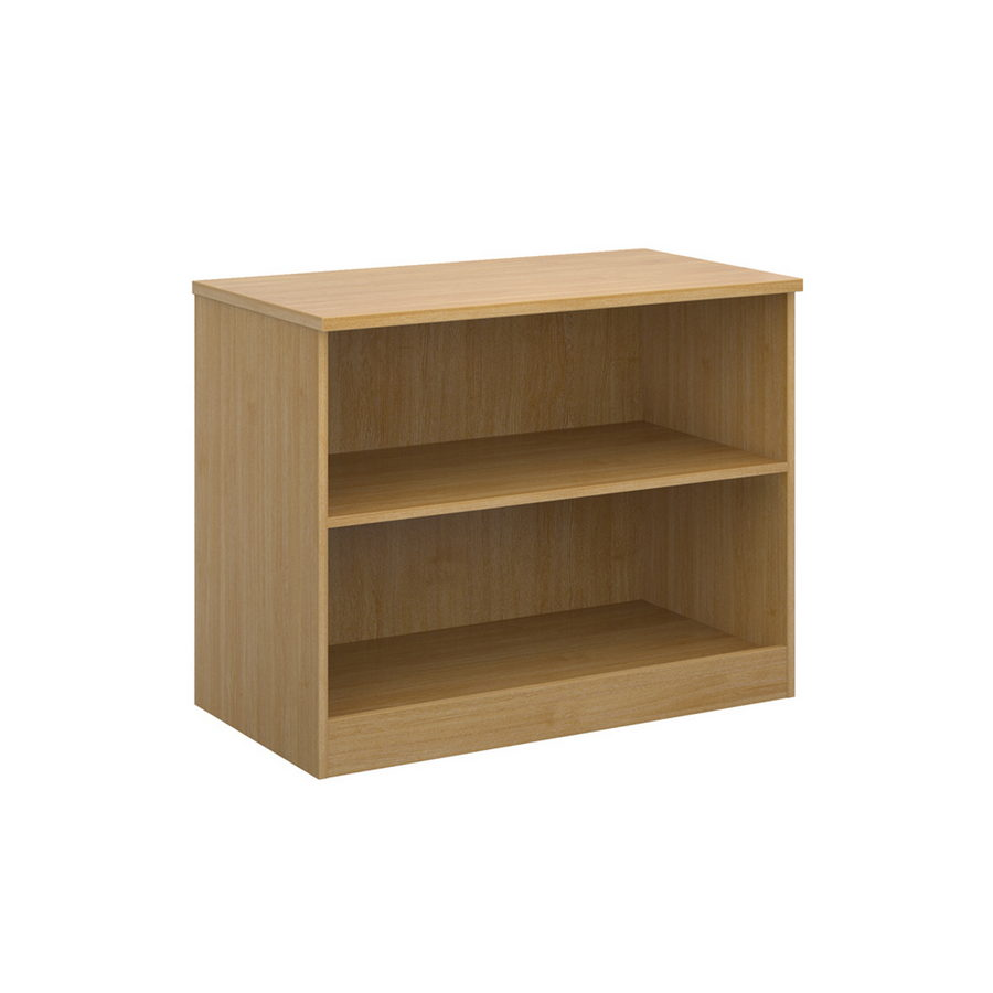 Picture of Deluxe bookcase 800mm high with 1 shelf - oak