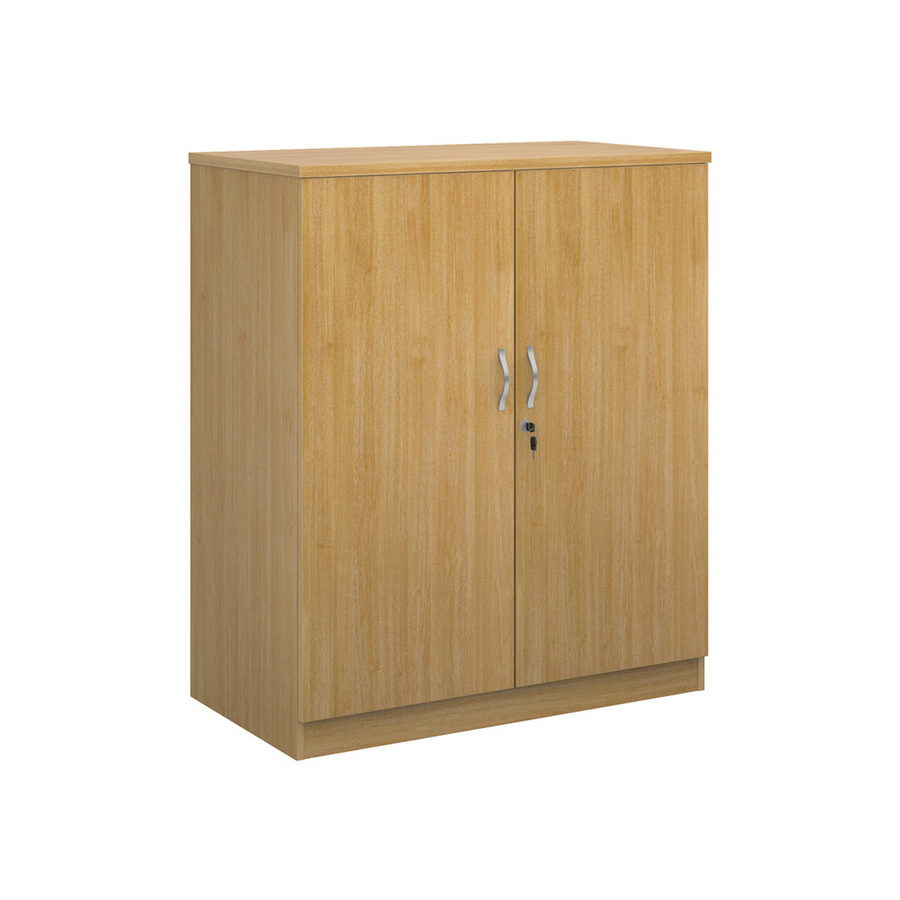 Picture of Deluxe double door cupboard 1200mm high with 2 shelves - oak