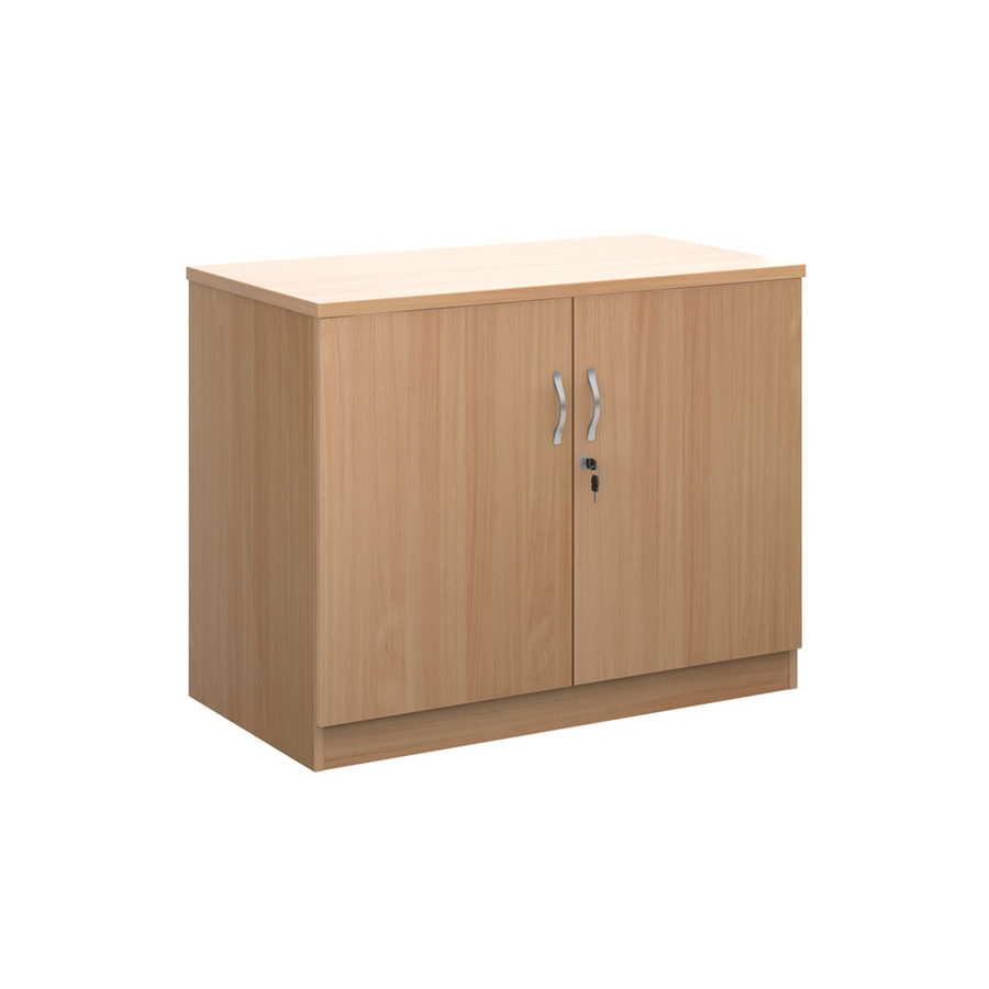 Picture of Deluxe double door cupboard 800mm high with 1 shelf - beech