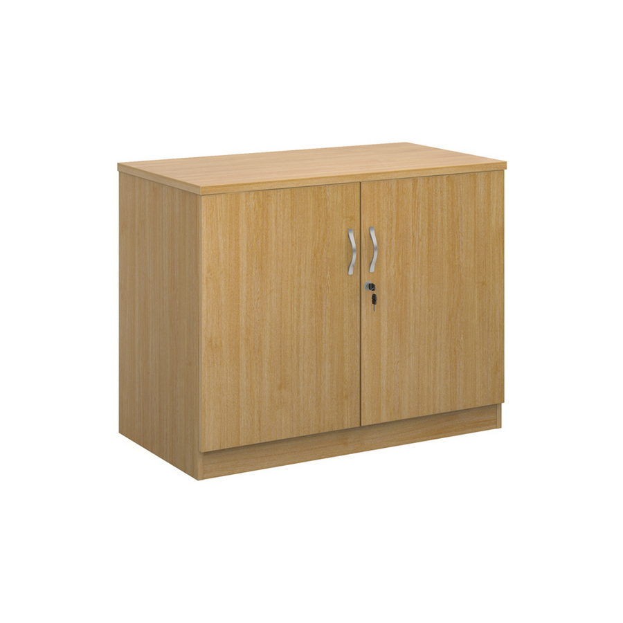 Picture of Deluxe double door cupboard 800mm high with 1 shelf - oak