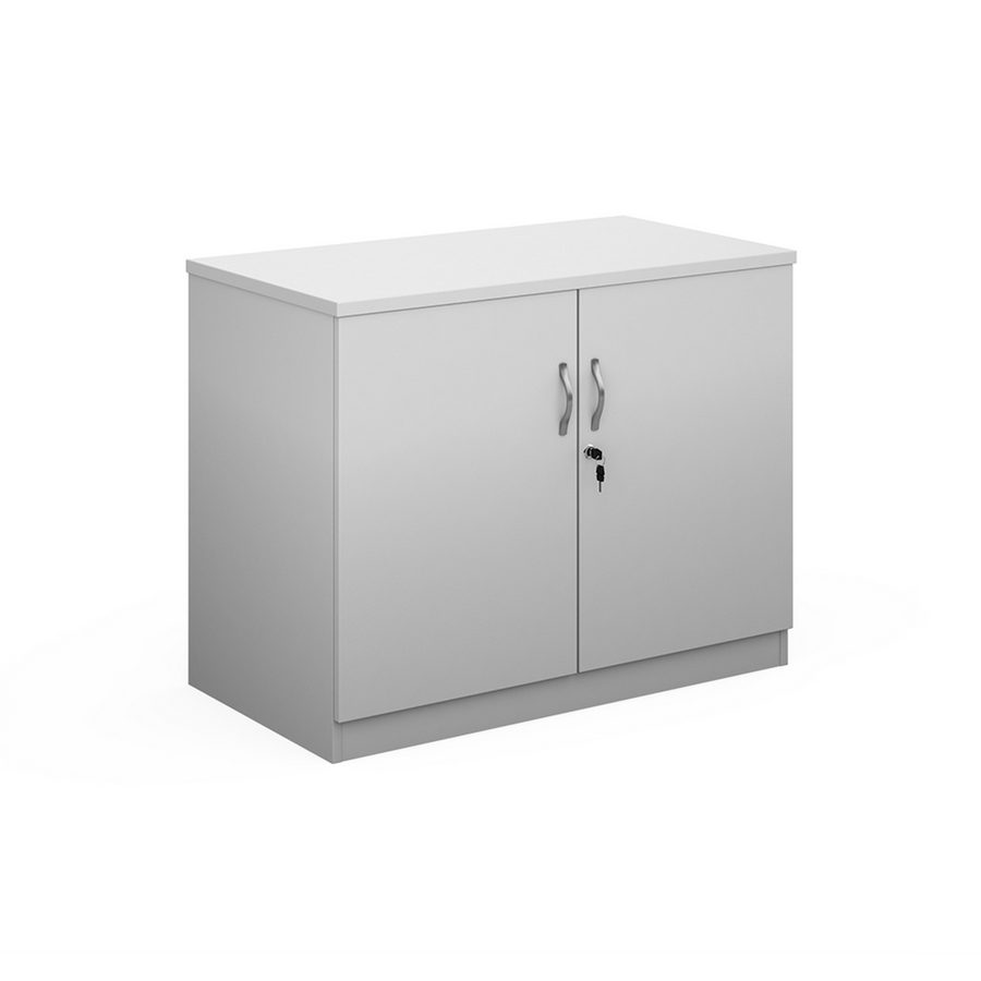 Picture of Deluxe double door cupboard 800mm high with 1 shelf - white