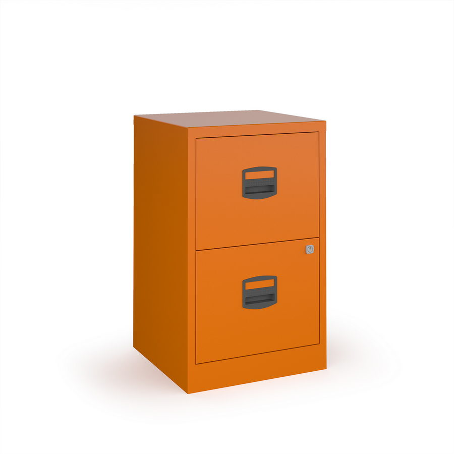 Picture of Bisley A4 home filer with 2 drawers - orange