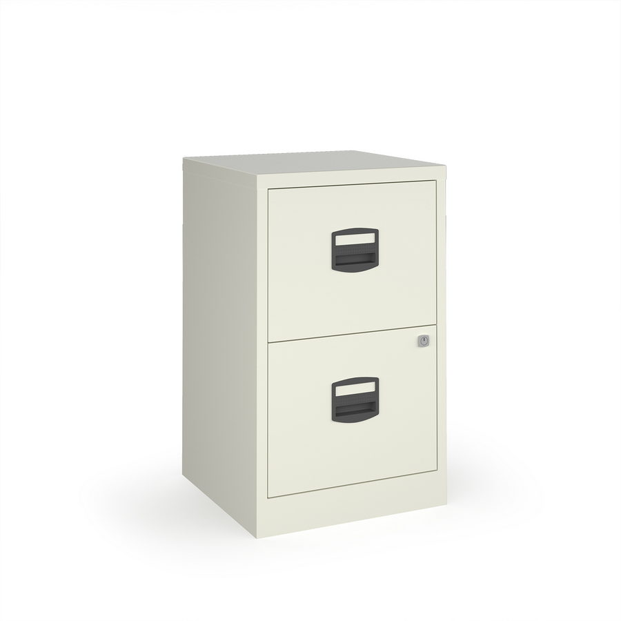 Picture of Bisley A4 home filer with 2 drawers - white