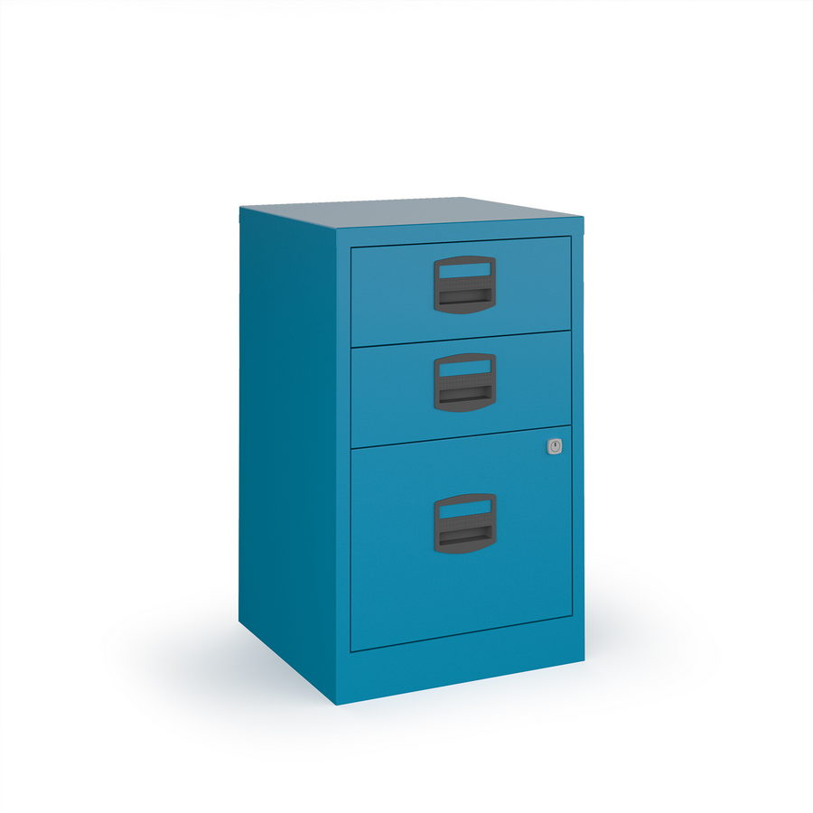 Picture of Bisley A4 home filer with 3 drawers - blue