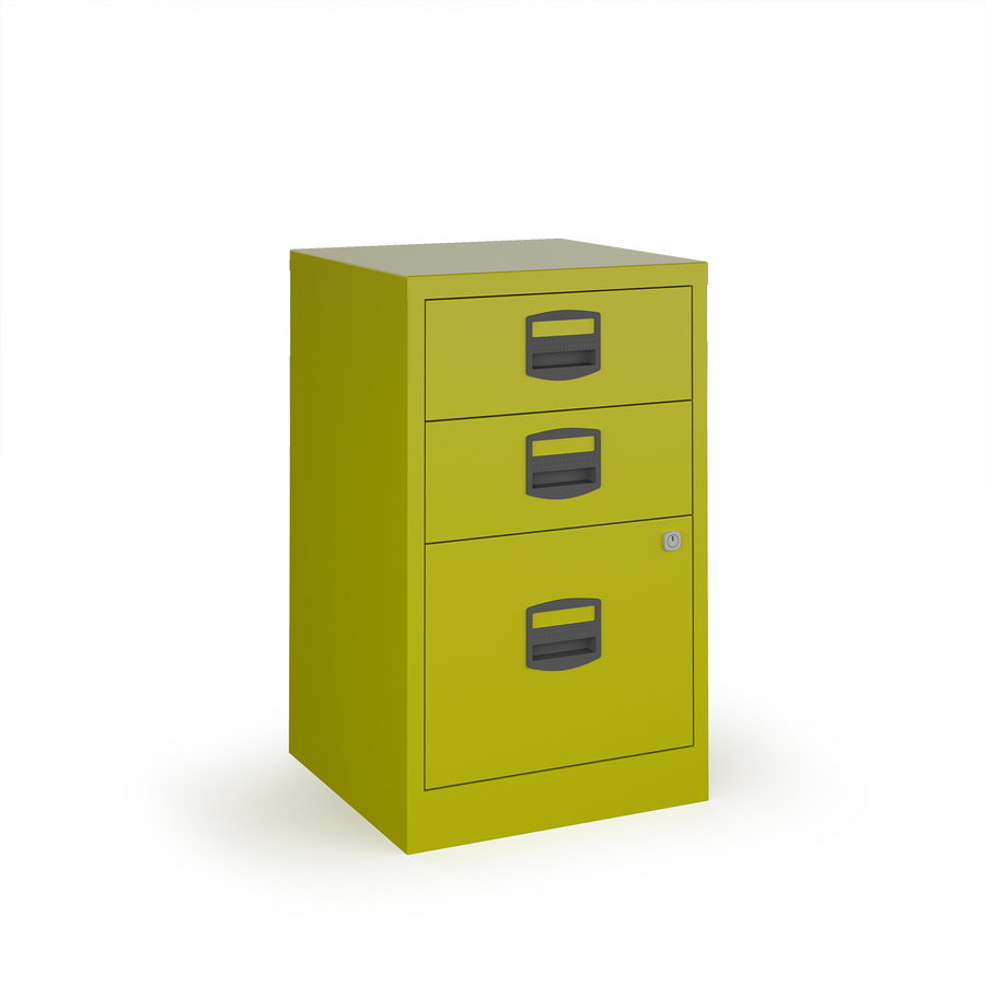 Picture of Bisley A4 home filer with 3 drawers - green