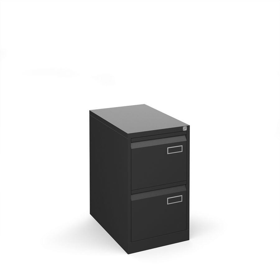 Picture of Bisley steel 2 drawer public sector contract filing cabinet 711mm high - black