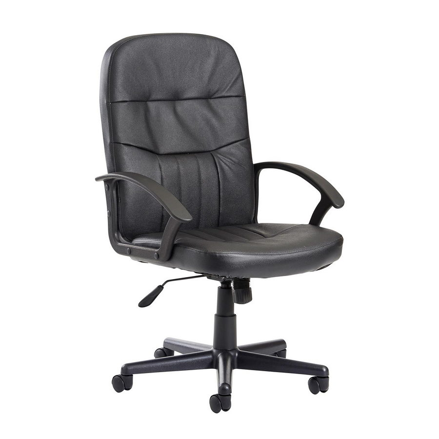 Picture of Cavalier high back managers chair - black leather faced