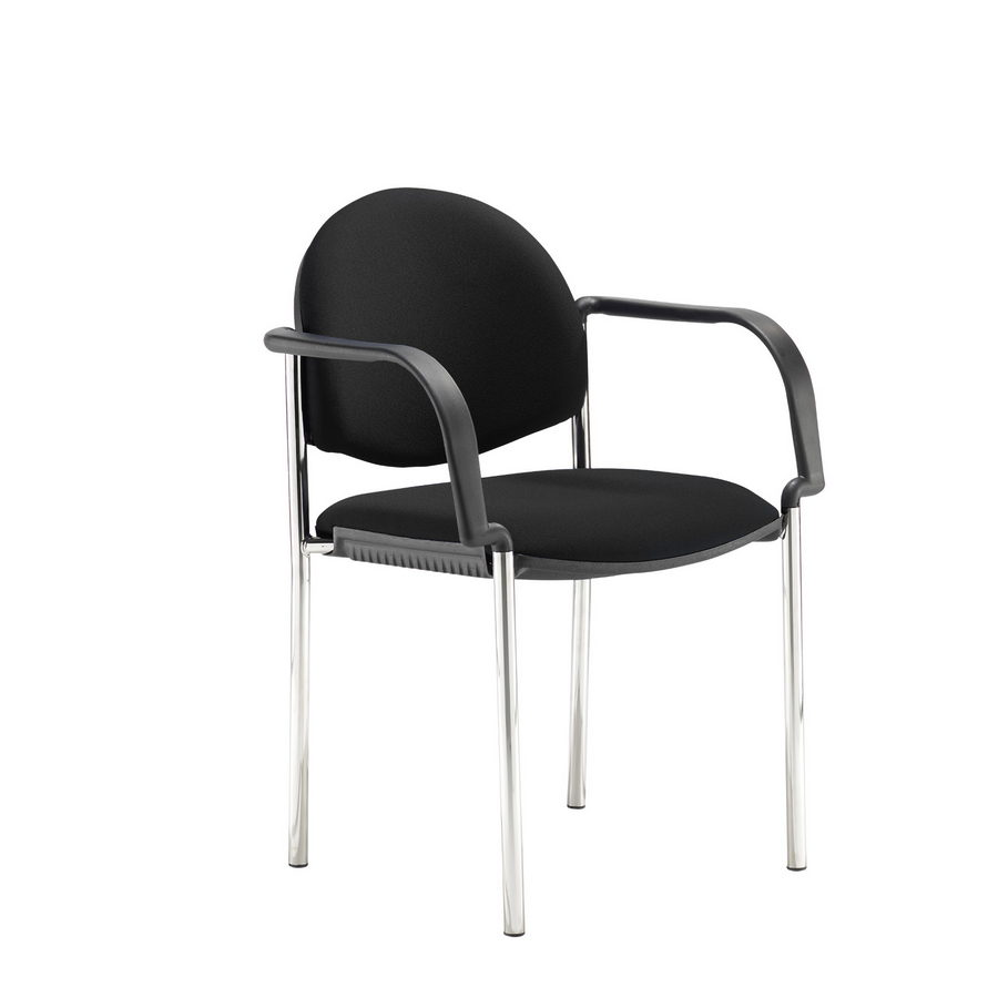Picture of Coda multi purpose chair, with arms, black fabric