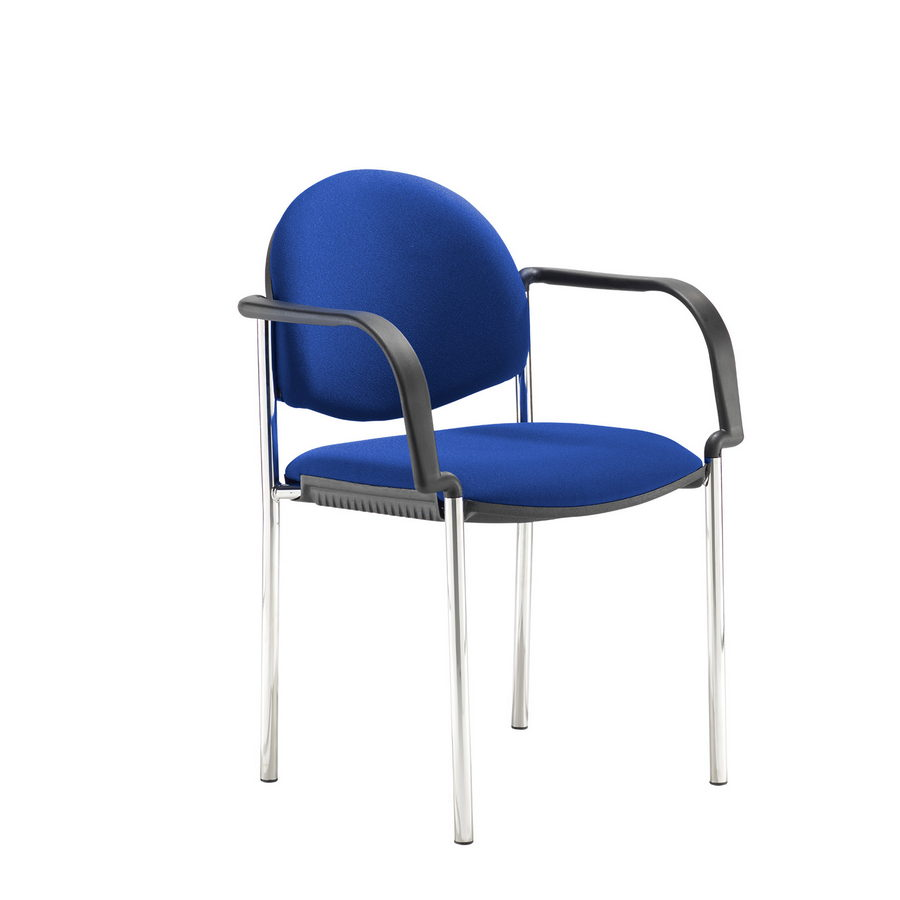 Picture of Coda multi purpose chair, with arms, blue fabric