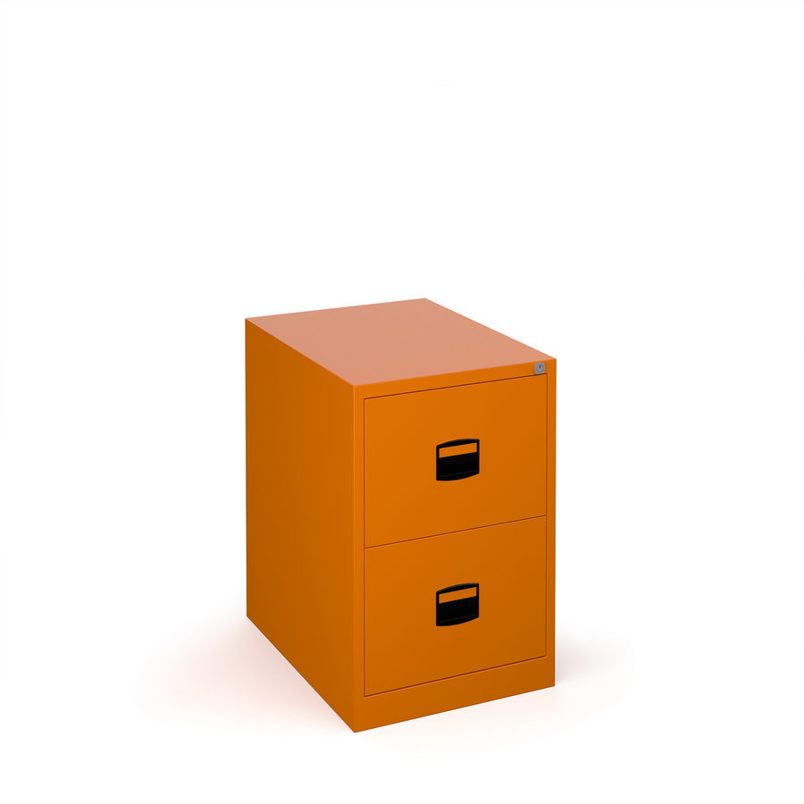 Picture of Steel 2 drawer contract filing cabinet 711mm high - orange