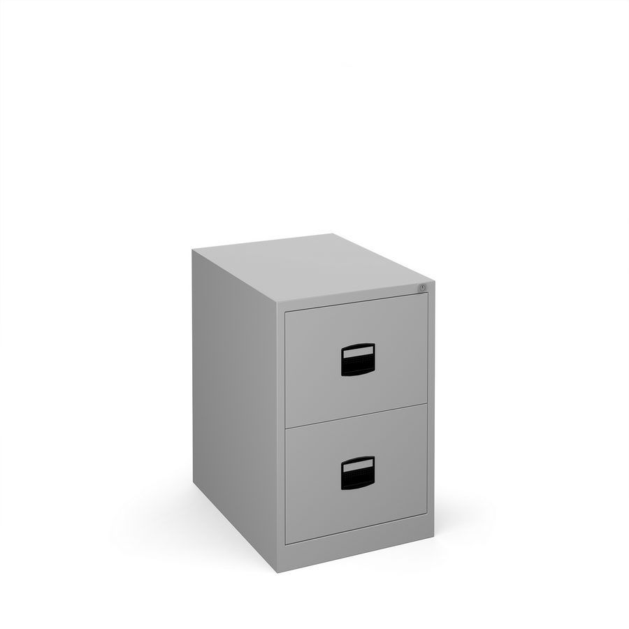 Picture of Steel 2 drawer contract filing cabinet 711mm high - silver
