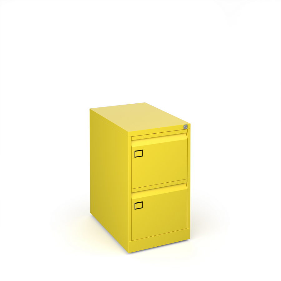 Picture of Steel 2 drawer executive filing cabinet 711mm high - yellow