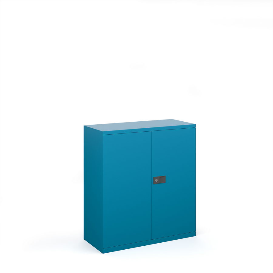 Picture of Steel contract cupboard with 1 shelf 1000mm high - blue