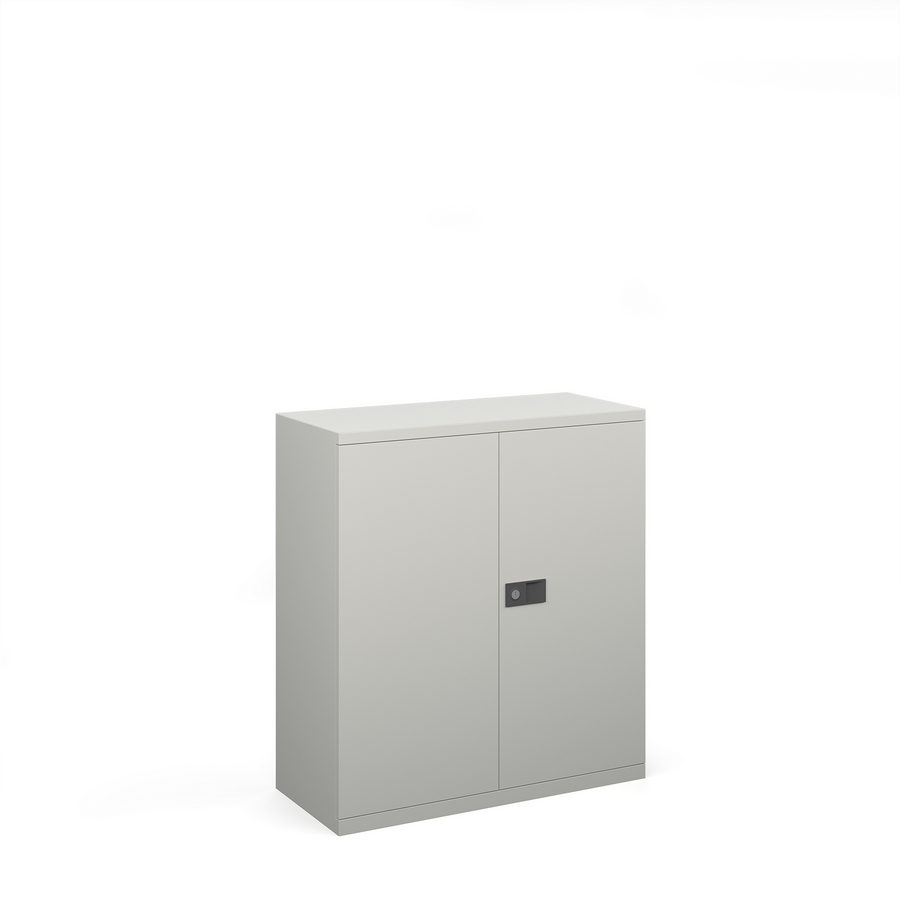 Picture of Steel contract cupboard with 1 shelf 1000mm high - goose grey
