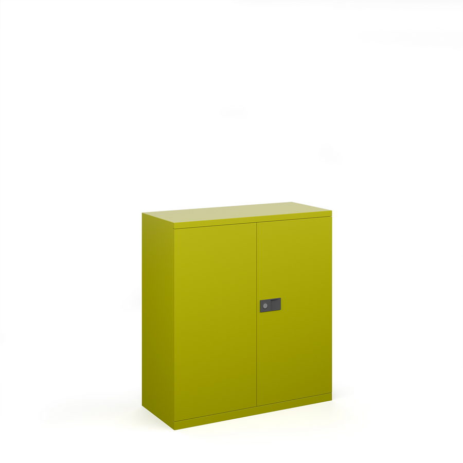 Picture of Steel contract cupboard with 1 shelf 1000mm high - green