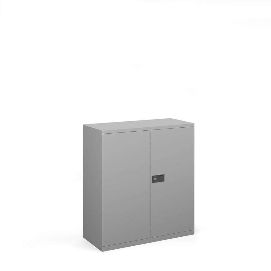 Picture of Steel contract cupboard with 1 shelf 1000mm high - silver