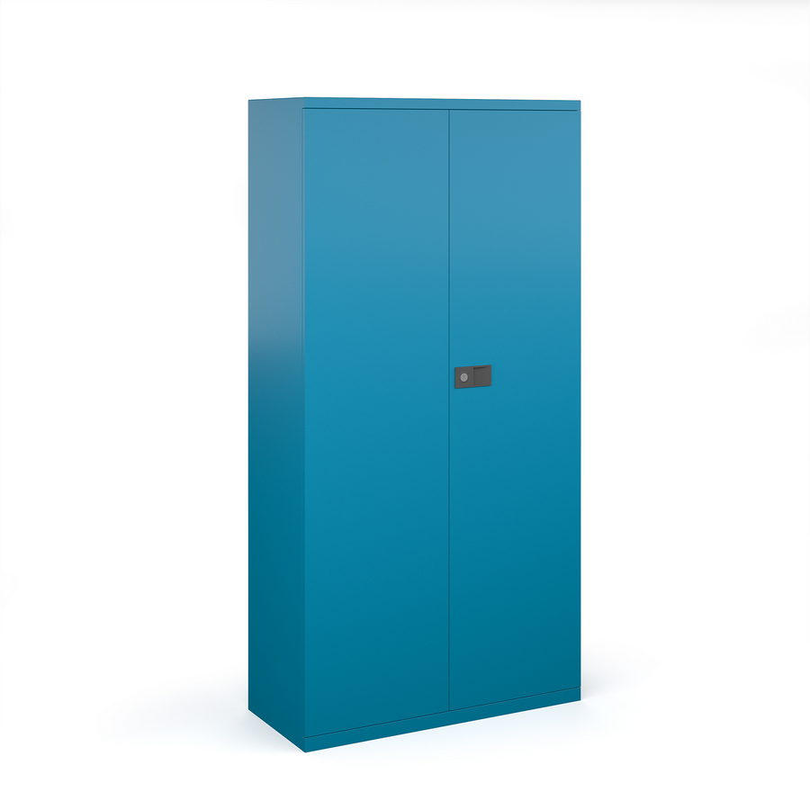 Picture of Steel contract cupboard with 3 shelves 1806mm high - blue