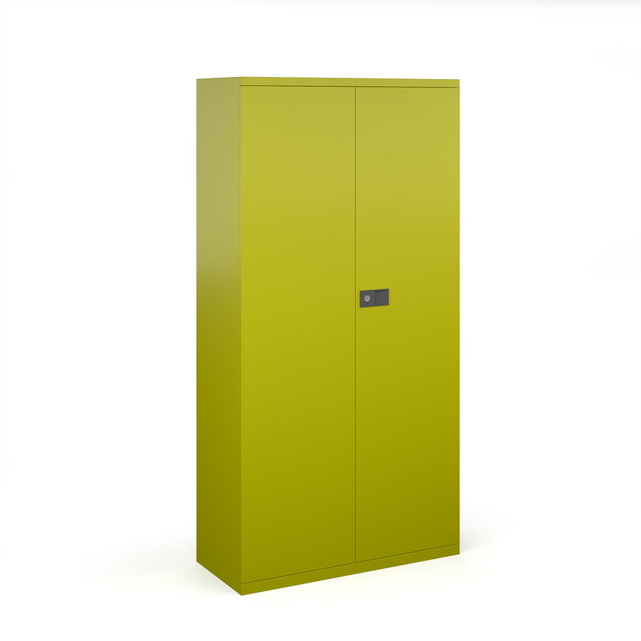 Picture of Steel contract cupboard with 3 shelves 1806mm high - green