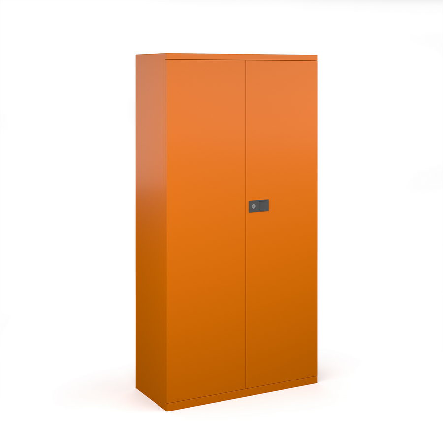 Picture of Steel contract cupboard with 3 shelves 1806mm high - orange