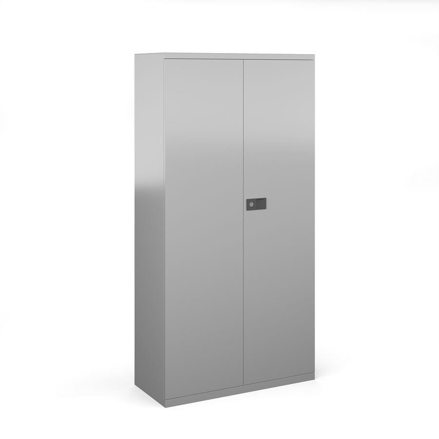 Picture of Steel contract cupboard with 3 shelves 1806mm high - silver
