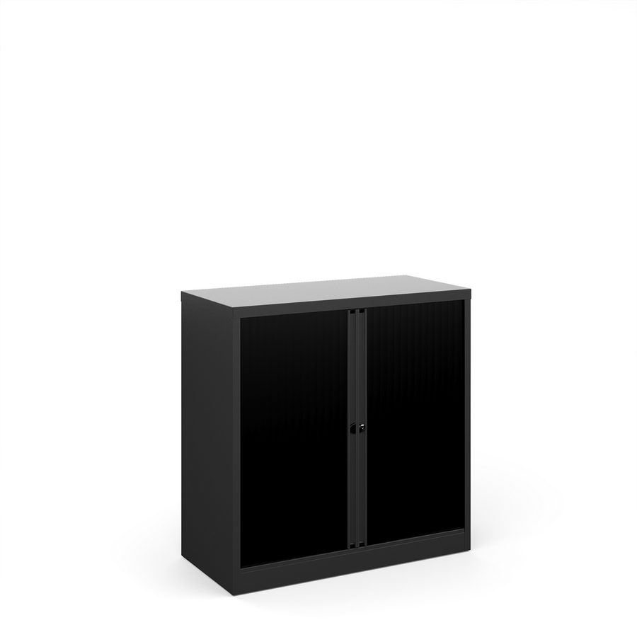 Picture of Bisley systems storage low tambour cupboard 1000mm high - black