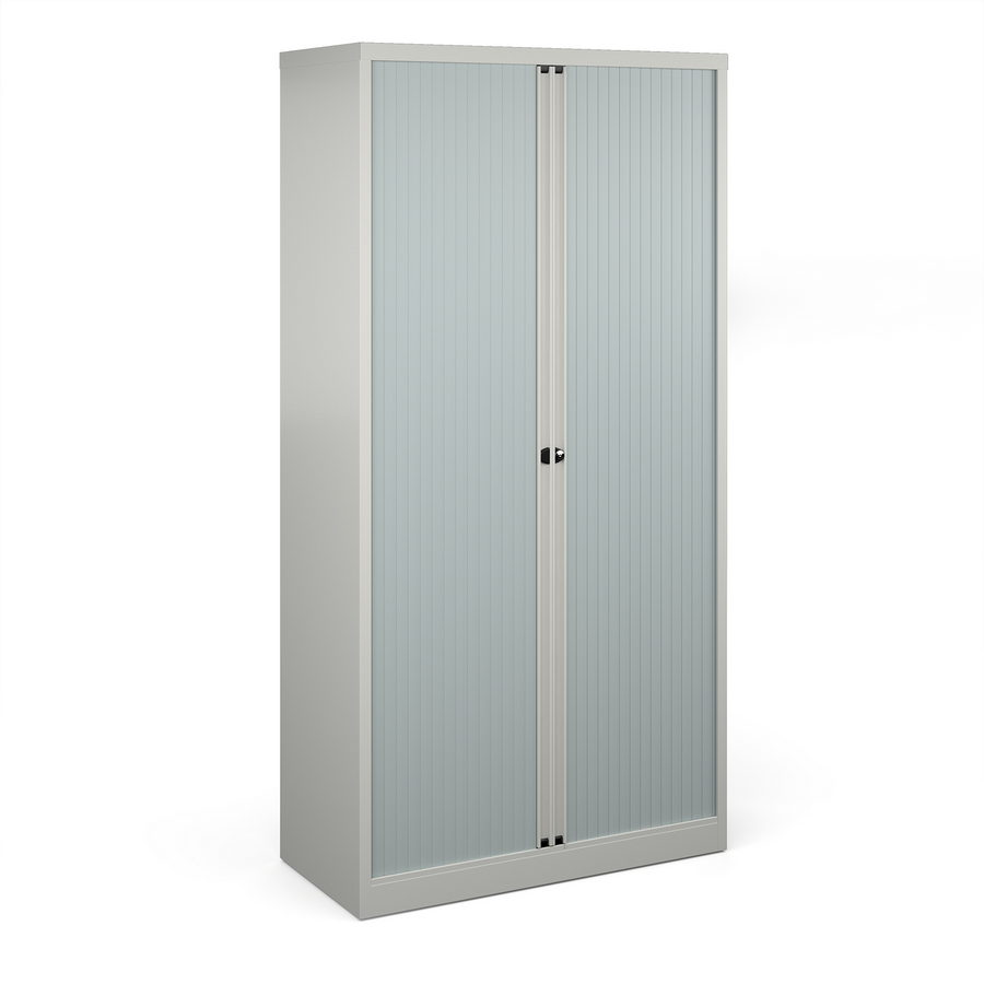 Picture of Bisley systems storage high tambour cupboard 1970mm high - goose grey