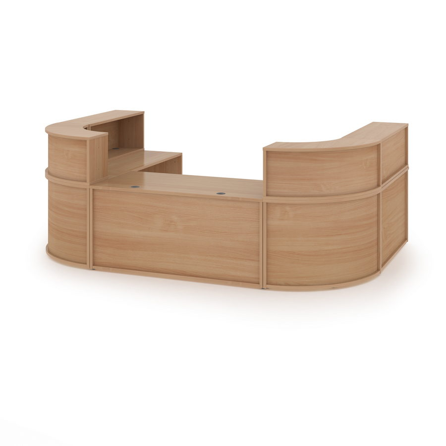 Picture of Denver extra large U-shaped complete reception unit - beech