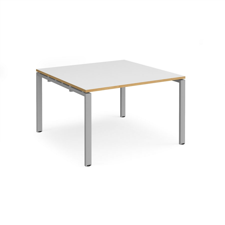 Adapt II square boardroom table 1200mm x 1200mm - silver frame ...