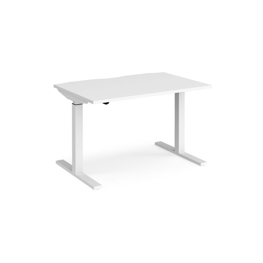 Picture of Elev8 Mono straight sit-stand desk 1200mm x 800mm - white frame, white top