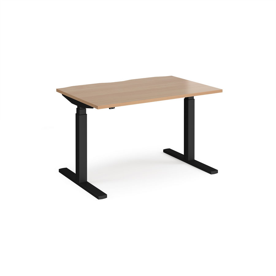Elev8 Touch straight sit-stand desk 1200mm x 800mm - black frame ...
