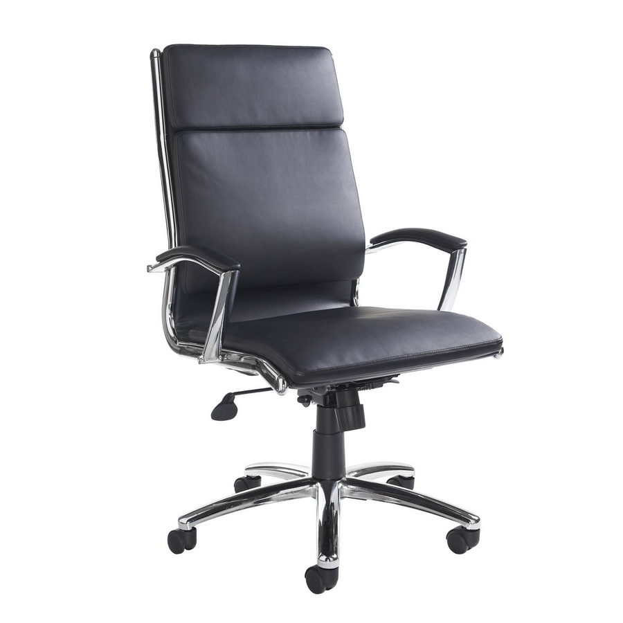 Picture of Florence high back executive chair - black faux leather
