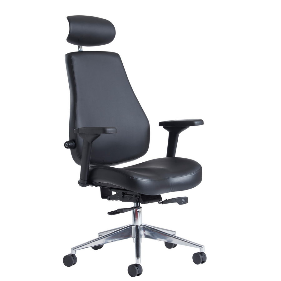 Picture of Franklin high back 24 hour task chair - black faux leather