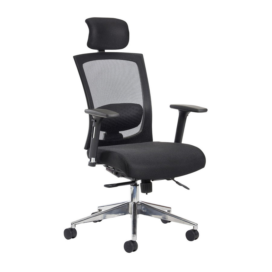 Picture of Gemini mesh task chair with adjustable arms and headrest - black