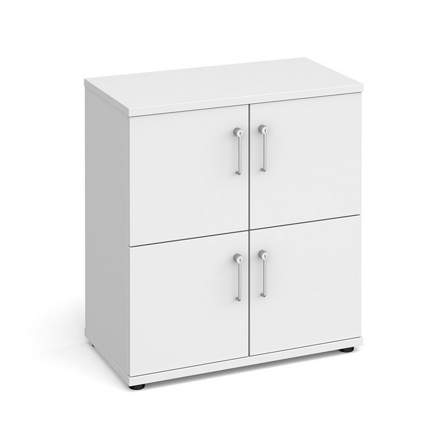 Picture of Wooden storage lockers 4 door - white with white doors