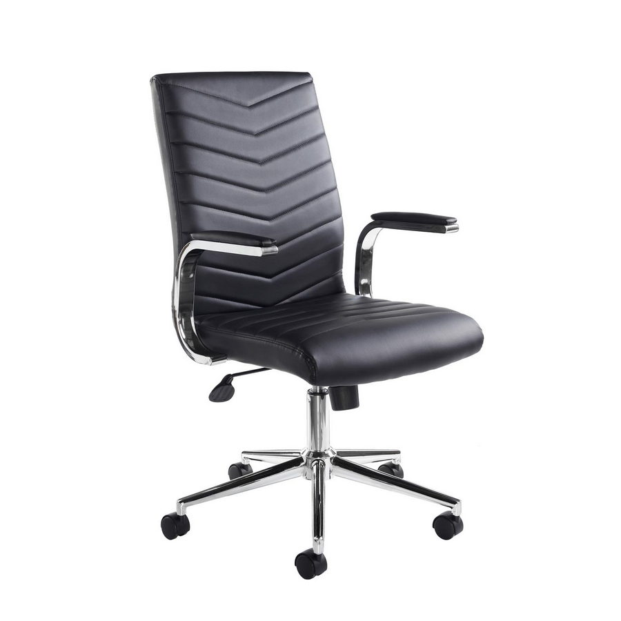 Picture of Martinez high back managers chair - black faux leather